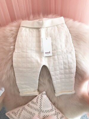 Seed Baby Girl BNWT Gorgeous White Quilted Pants