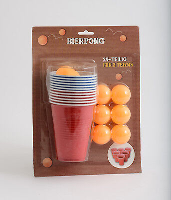 Beer Pong Drinking Game Adult Pub Stag/Hen Fun Dinner Party Shots Gift Set Game