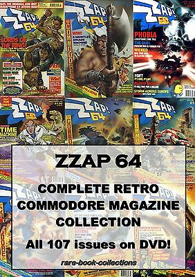 ZZAP 64 Magazine - All 107 Issues on DVD! COMMODORE AMIGA Retro 80s Gaming Games