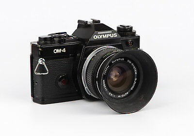 Olympus OM-4 + 28mm f3.5 in Excellent Condition With Original Lens Hood