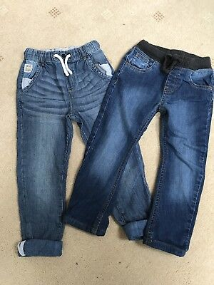 2 Pairs Boys Next/M&S Jeans Age 3-4 Years