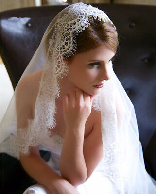 White Ivory Wedding Veil Lace Long Bridal Veils Wedding Bridal Accessories Veils