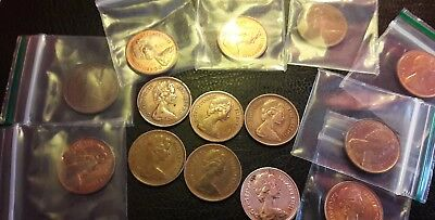 1/2 penny coins