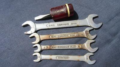 1980s Circa Sidchrome Open Ended Spanners X 4 & 1 Sidchrome Stamped Screwdriver