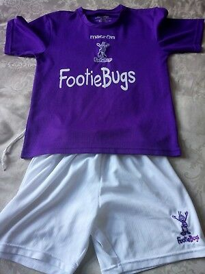 Footie Bugs football top and shorts