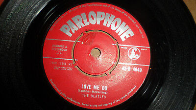 The Beatles 'love Me Do / P.s. I Love You' 45-R 4949 Parlophone Records 1962 Uk
