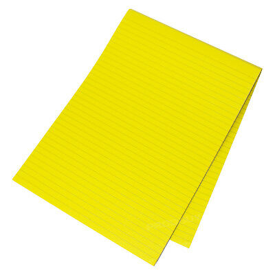 Visual Memory Aid A4 Bright Yellow 100 Page Paper Notepad Memo Lined Writing Pad