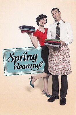 AUSTRALIAN ADVERTISING POSTCARD Spring Cleaning RED CROSS SHOPS