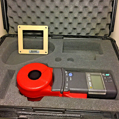 AEMC MODEL 3711 Clamp-On Ground Resistance Tester w/ 25 ohm cal loop & case