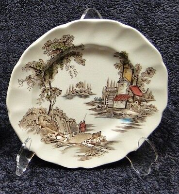 """ONE Johnson Brothers The Old Mill Bread Small Plate  6"""" 6 1/4"""" DISH England vtg"""