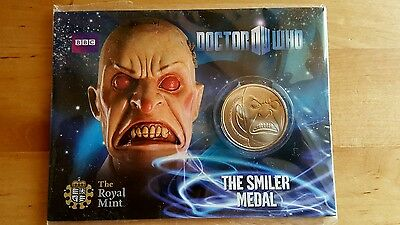 """2010 UK Royal Mint - Doctor Who Collectable """"THE SMILER MEDAL"""""""