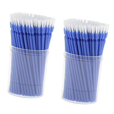 200pcs Dental Disposable Micro Applicators Micro Brushes Blue Long Tipped