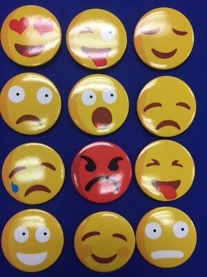 Emoji Button Badge 45mm x Pack of 12