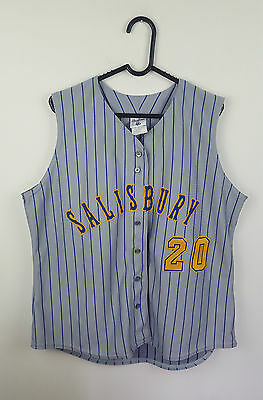 Womens Vtg Athletic Sports Oversized Baseball Jersey Festival Top Vgc Xl