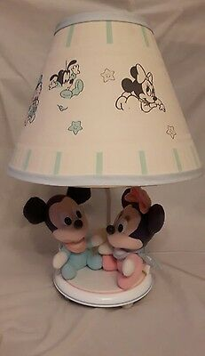 vintage Minnie and Mickey Mouse Disney lamp made by Dolly ~ read details please