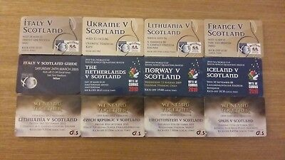 12x Scotland Supporters Club Travel Guides - Various 2005 - 2011