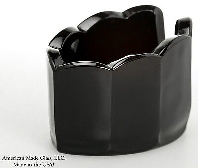 Black Glass Spoonrest - Scalloped Mule - Mosser USA