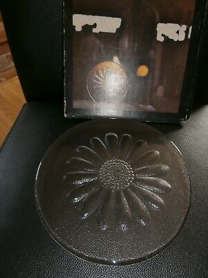 Hand made crystal Dartington Daisy Butter Platter FT214. Boxed, used