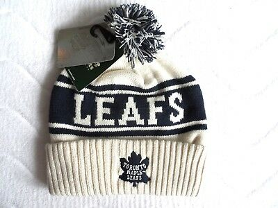 ROOTS TORONTO MAPLE LEAFS BEANIE BOBBLE TOQUE Hat NHL Hockey Canada OFFWHITE Tag