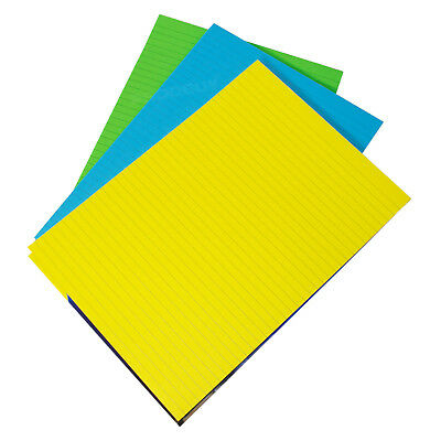 3 x Memory Aid A4 Bright Colour 100 Page Paper Notepad Refill Lined Writing Pads
