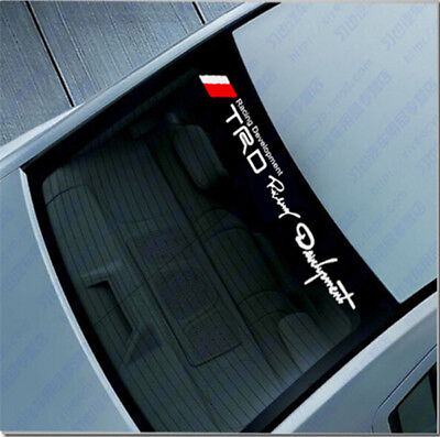 TRD Racing Windshield Banner Decal Racing Car-Body Sticker Reflective For@Toyota
