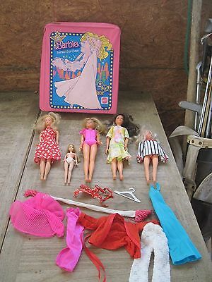 1977 Mattel Barbie doll case and 1 Barbie Doll + Other Fashion Dolls(HongKong)