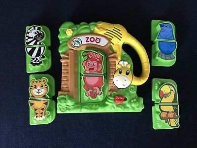 Leap Frog Phonics Zoo Magnetic Fridge Complete Learning Set Matching Animals