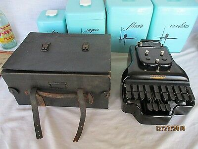 Antique 1911-1913 Stenotype Company USA Short Hand Machine No. 3 w/ original box