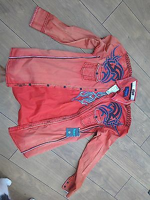Cowboy Shirt  Mens M fully embroidered design