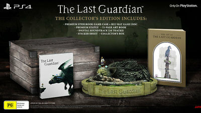 The Last Guardian Limited Collectors Edition with Trico Statue PS4