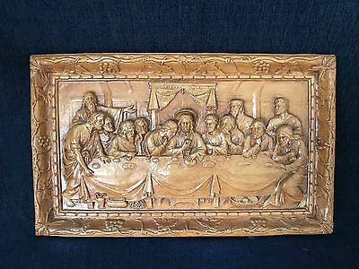 Vintage Genuine Burwood The Last Supper Wall Hang Burwood Products Co. Michigan