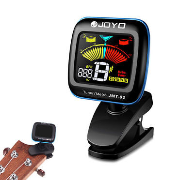 Hot JOYO JMT-03 Clip-on Tuner Metronome with Color Display Mic Clip Tuning Modes