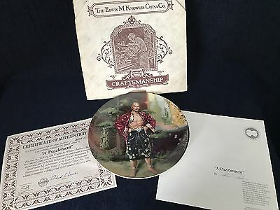 Knowles China Co.The King And I - A Puzzlement Collector Plate 1985 Yul Brynner