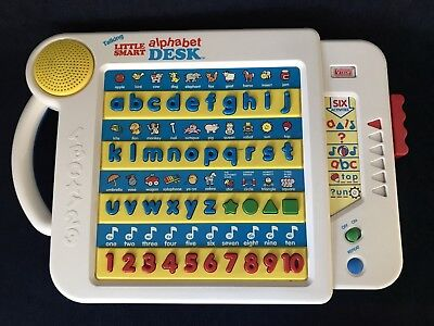 Vintage V-Tech Talking Little Smart Alphabet Desk 1992 Used