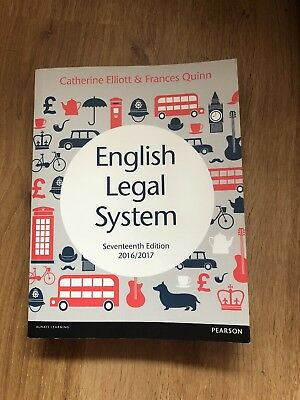 English Legal System By Catherine Elliott And Frances Quinn
