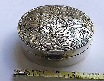 Vintage Silver 900 Snuff Box With Intricate Engraving 50 Grams!