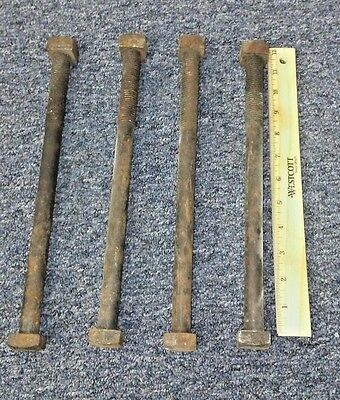 "3/4""-10 x 11"" Long Fastener Square Head Machine Bolts Lot of 4 Pcs"