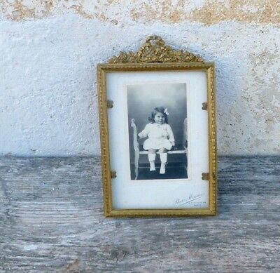 Antique 1890/1900s French Victorian Chateau chic photo frame Bronze frame