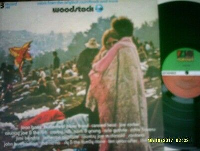 "V/A ~ ""Woodstock"" (Atlantic) UK 1970 - LATER PRESSING - 3 X LP - HENDRIX / TYA +"