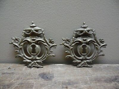 Pair Of Cast Brass Key Hole Cover Plates Made In Italy 346 B