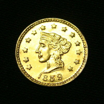 1859 California Fractional 1/2 dollar Gold … UNC ? … see photos