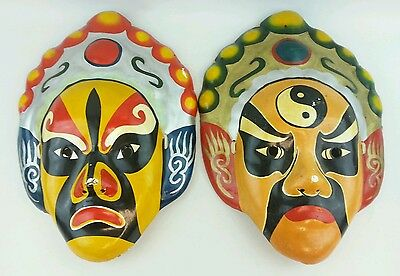 2 Masks hand painted hand made