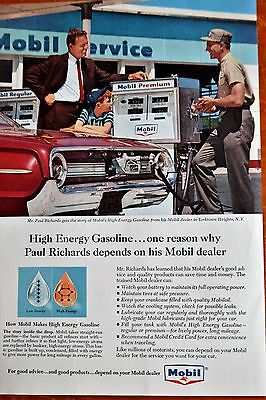 1964 Ford Galaxie For Mobil Gas Station & Attendant - American 60S Vintage Retro