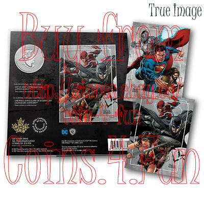 2018 - Justice League™ Heroes - 25-cent 3D Coin & Two Trading Cards - Canada