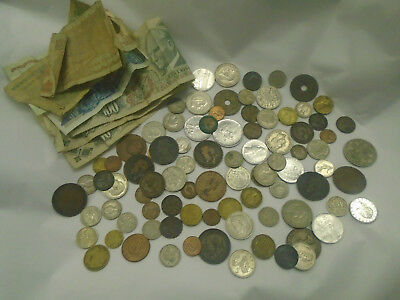 Collection Antique / Vintage Money - Coins & Notes -English Coins -Turkish Notes