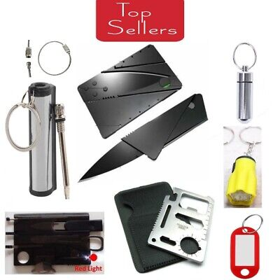 Credit Card Knives 11 in 1 Multi Tools wallet thin pocket Survival  Micro Knife