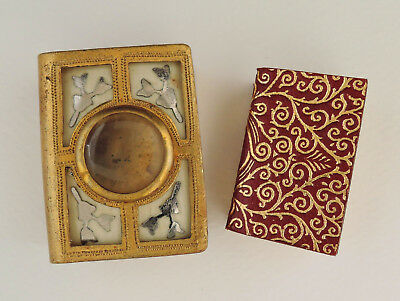 Antique David Bryce Miniature Koran in Original Book-Shaped Magnifier Case c1900
