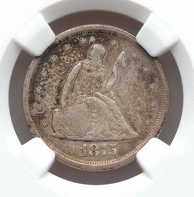 1875-S NGC VF25 Twenty Cent Piece Very Fine Type Coin 140 Years Old