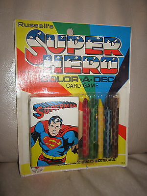 1977 Russell's Super Hero Superman Color-A-Deck Card Game NIP!!