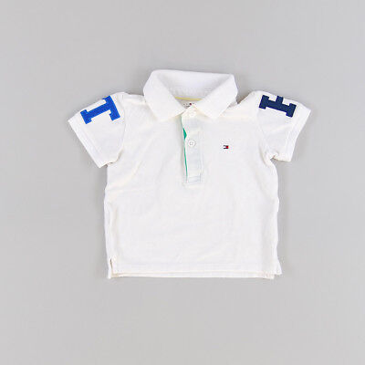 Polo color Blanco marca Tommy Hilfiger 6 Meses